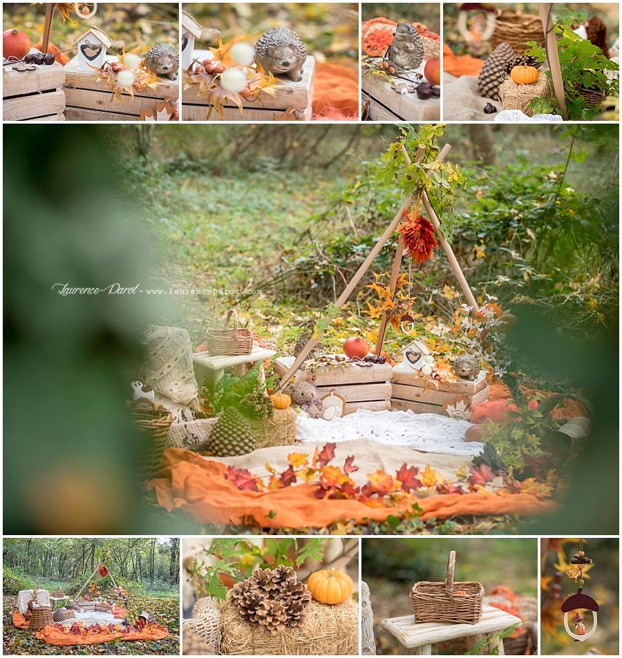 photos famille décors thème automne