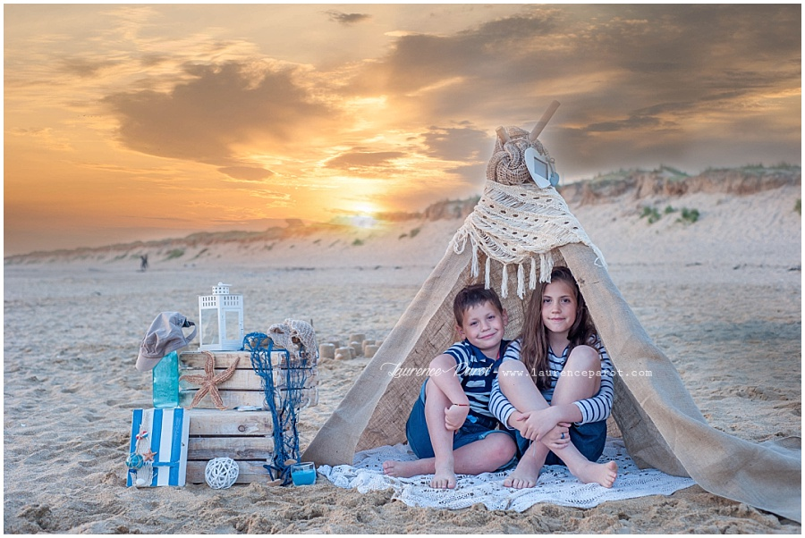 photos enfants famille seance a theme plage