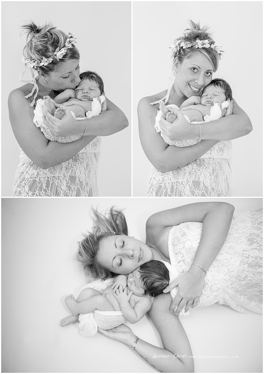 photo naissance avec maman studio vigneux
