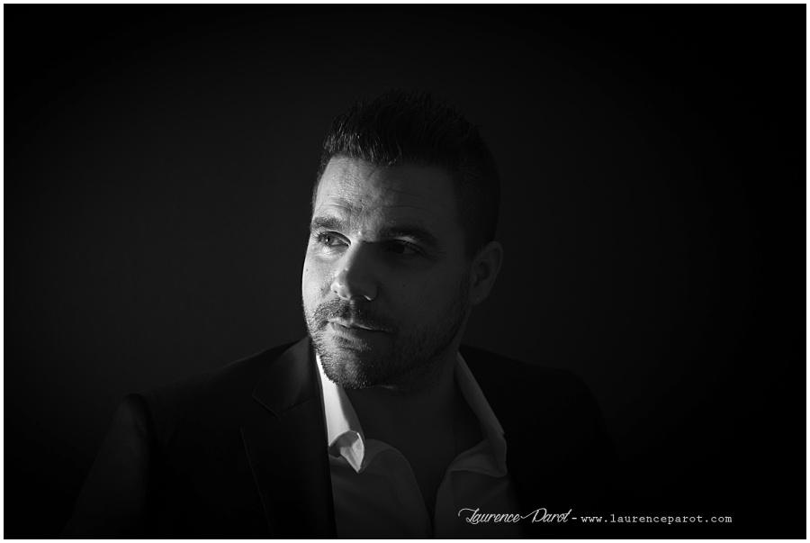 portrait noir et blanc en studio vigneux essonne