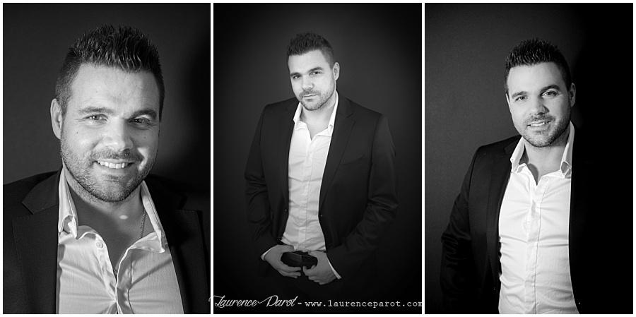 portrait noir et blanc en studio essonne