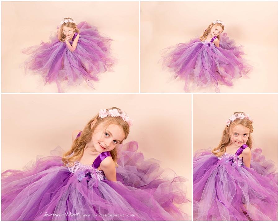 shooting photos princesse petite fille thème princesse