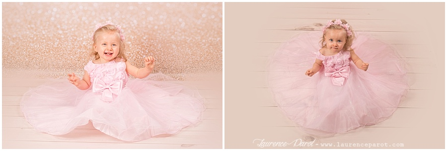 shooting photos princesse petite fille en studio