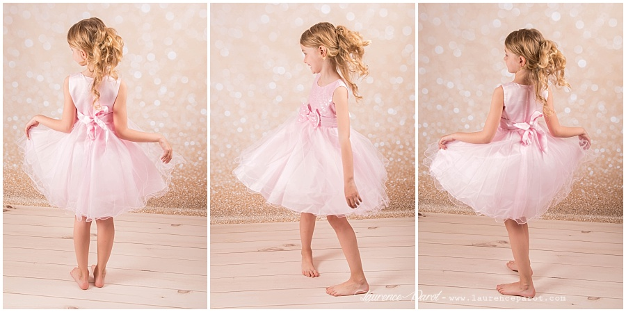 séance photos en studio princesse petite fille
