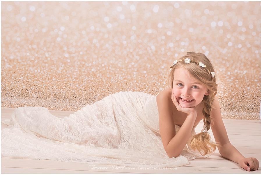 séance photos en studio princesse petite fille shooting photos princesse