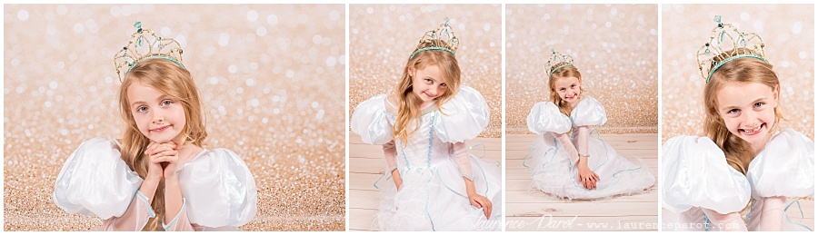 séance photos petite fille princesse paillette tuttu