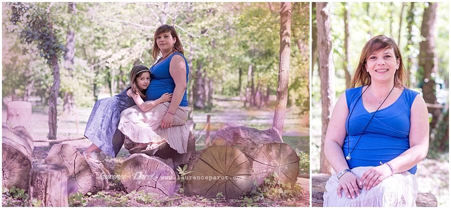 photo grossesse maman avec grande soeur