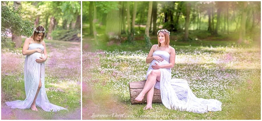 photo femme enceinte extérieur avec prêt de robe de grossesse