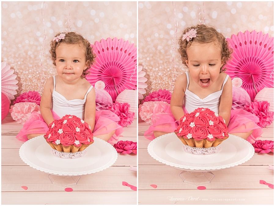 séance photos anniversaire bébé smath the cake en studio essonnes