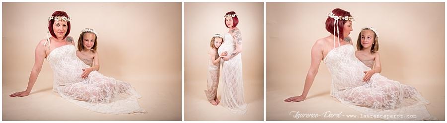 robe de grossesse en dentelle pour séance photos
