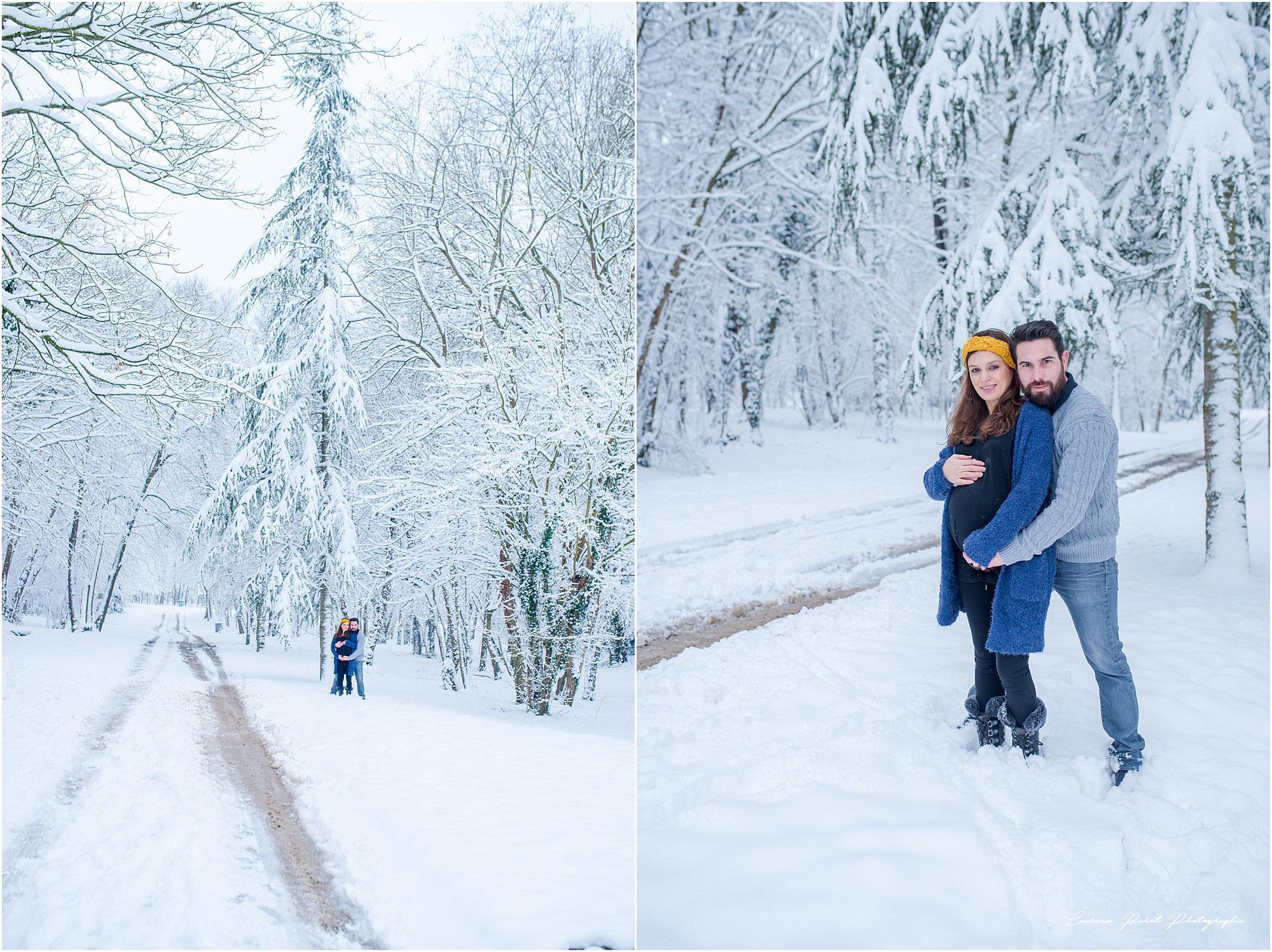 photos grossesse extérieur dans la neige laurence parot